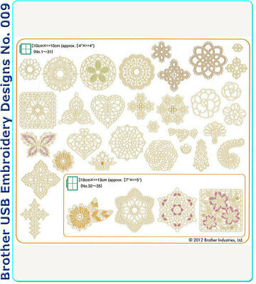Brother Usb Embroidery Designs - No. 009 Crochet Lace