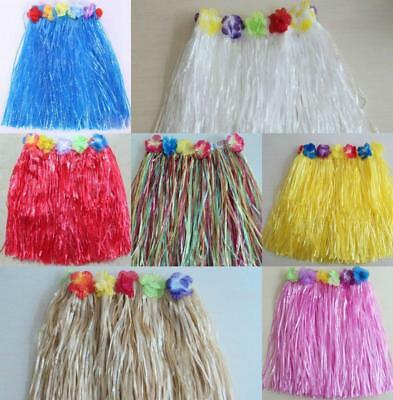 Hawaiian Hula Skirt All Colours One Size 40Cm Long Fancy Dress Up Party