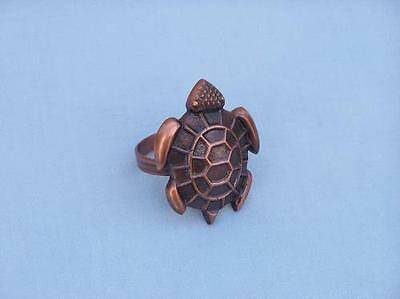 """NR-17-C Handcrafted Model Ships Antique Copper Turtle Napkin Ring 3"""""""