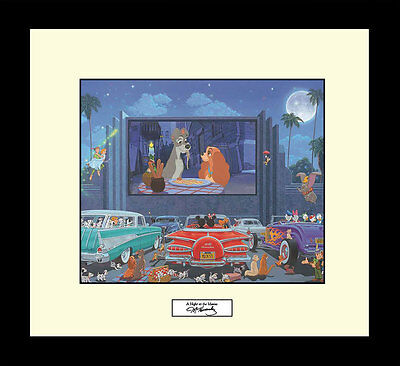 Manuel Hernandez A NIGHT AT THE MOVIES Disney Limited Edit Lady The Tramp Art