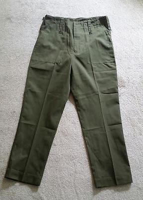 British Army Lightweight Green Trousers - Olive - Grade 1 - Used - All Sizes