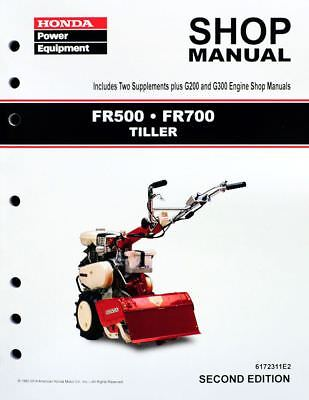 Honda FR500 FR700 Tiller Service Repair Shop Manual