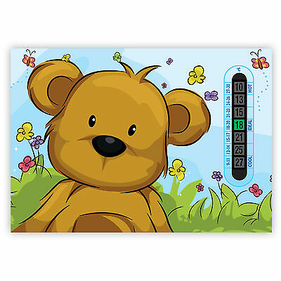 A5 Nursery, Baby and Childrens Blue Teddy Bear Room Thermometers