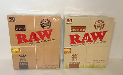 Raw Smoking King Size Rolling Papers Classic Or Organic Variations By Etrendz