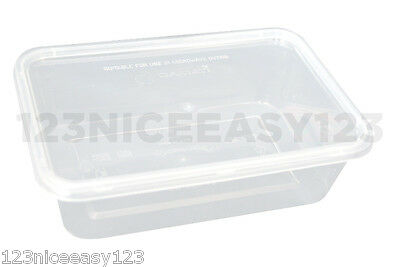 TAKEAWAY PLASTIC CONTAINERS(500ml)Small Food Storage Boxes Microwave and Freezer