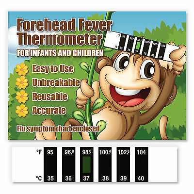 Little Monkey Baby Forehead Fever Thermometer w/ Cold & Fever Info -CE Marked