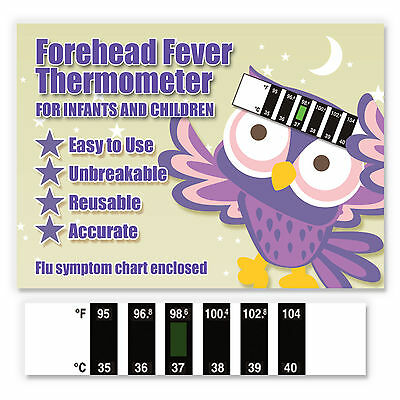 Owl CE Marked Forehead Baby Fever Thermometer w/ Cold & Fever Info