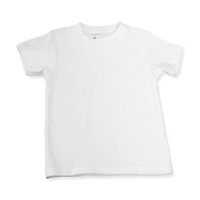 Baby Jay 100% Cotton White Round Neck Short Sleeve Tee T-Shirt Boy Girl -333519