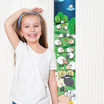 Counting Sheep Children's Height Chart with FREE metallic Stickers