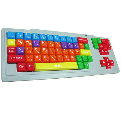 New Kids Desktop Pc Keyboard / Large Big Keys / Dual Case / Extra Special Needs