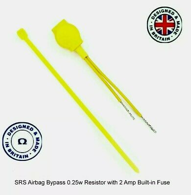 Airbag Bypass Resistor Fused 1.8 Ohm  0.25 W 2 Amp SRS Delete Fault Finder Tool
