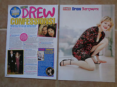 Drew Barrymore_MAGAZINE CLIPPINGS CUTTINGS_ships from AUSTRALIA_L8