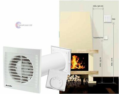 Distribute Warm Air One Room to Another Heat Extractor Room Fan Fireplace Stove