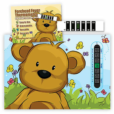 Teddy Bear Room Thermometer & Fever thermometer twin pack - B - SAVE 20%+