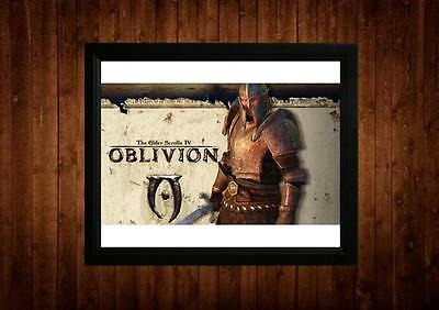 THE ELDER SCROLLS IV OBLIVION FRAMED A4 PRINT GIFT IDEAS RETRO VINTAGE GAME ART