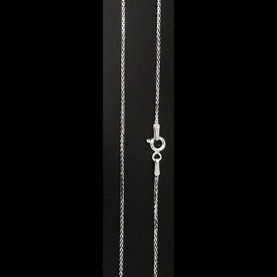 Italy 925 Sterling Silver SQUARE WHEAT Chain Necklace-Diamond cut-Oxidized