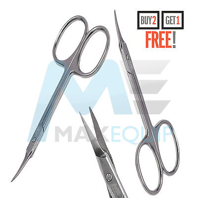 Professional Finger Toe Nail Scissors CURVED ARROW Steel Manicure Cuticle NAIL