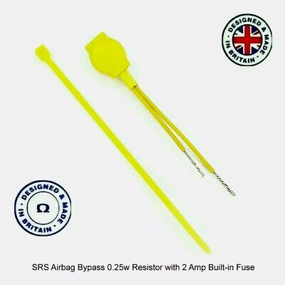 All Ohms Srs Airbag Resistor  Resistors 0.25W 2 Amp Fused Bypass  Fault Light