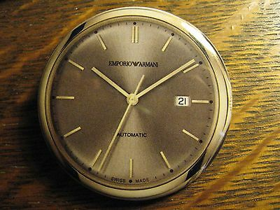 Giorgio Emporio Armani Swiss Wrist Watch Advertisement Pocket Lipstick Mirror