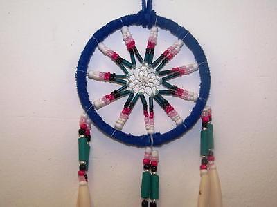 Medium Size Dream Catcher New Handmade By South American Native Indians Blue