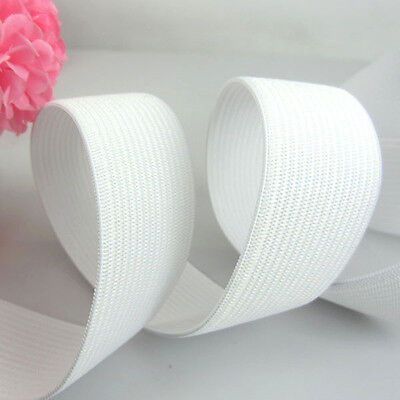 Free Shipping 10yard Wide 1-1/4 inch (30.0mm) White Soft Knitted Braided Elastic