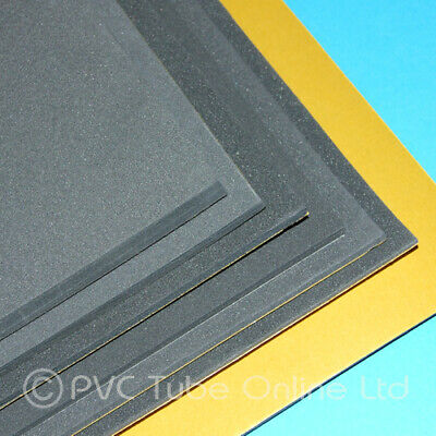 Foam Sheet Sponge Rubber - Adhesive Backed Closed Cell - Charcoal Grey Black SAB