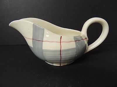 Habitant by J & G Meakin Gravy Boat Hand Painted on Studio Ware Plaid Rare