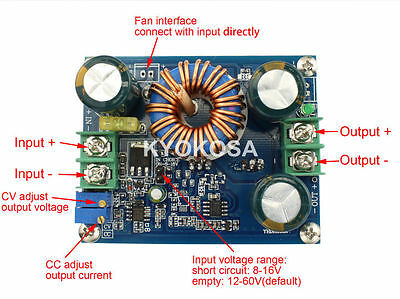 600W High-Power CV CC Boost Converter 8-60V to 12-80V 12A Wide Voltage DC Module