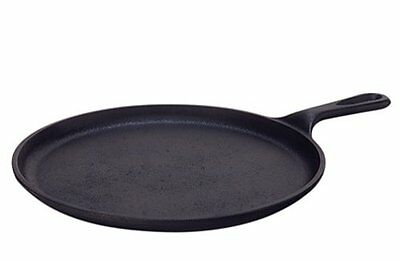 Lodge Pre-Seasoned Round Griddle 10.5-In Cast Iron Frying Pan Pancake Breakfast