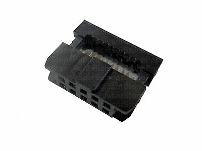 20X 10Pin 2x5 2.0mm Pitch IDC FC-2.0 Female Wire Header Connector for Flat Cable