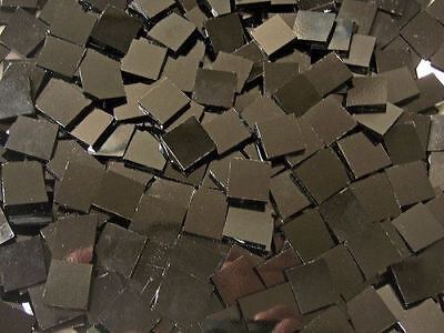 Mini Solid Black Stained Glass Mosaic Tiles