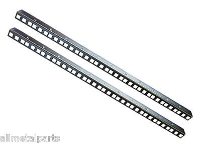 12U RACK STRIPS ZINC AND CLEAR FINISH 1.5mm Thickness 24.2 x 19.2mm
