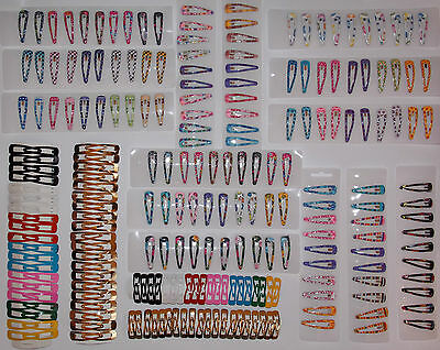 Hair Clips Snaps Multi Colours - New Women Kids Hair Accessories