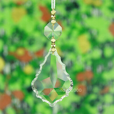 Pack of 25 Clear Large Crystal Chandelier Prism Glass Lamp Pendant Part F5BJx25