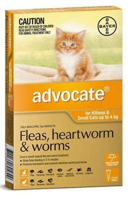 Advocate Flea & Worm Control for Cats under 4kg