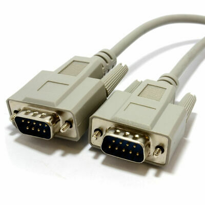 2m Serial RS232 9 Pin Male to 9 Pin Male EGA Monitor Cable [007328]