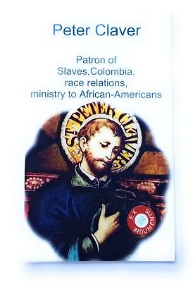 St Peter Claver relic card patron race relations ministry to African-Americans