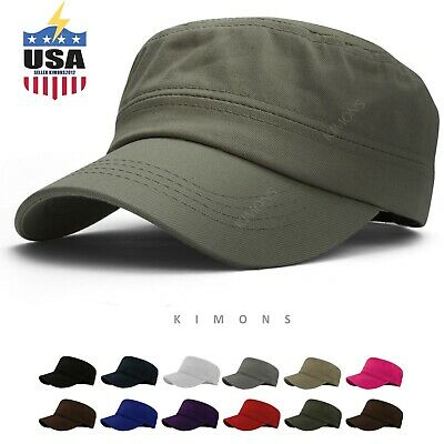 Military Hat Army Cadet Patrol Castro Cap Men Women Golf Baseball Summer Castro