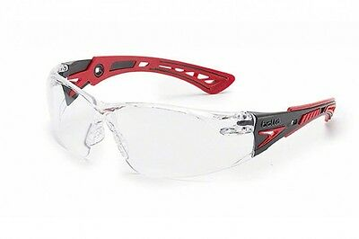 Bolle Safety Spectacles Glasses Rush Plus. Eye Protection Clear or Smoke Lens
