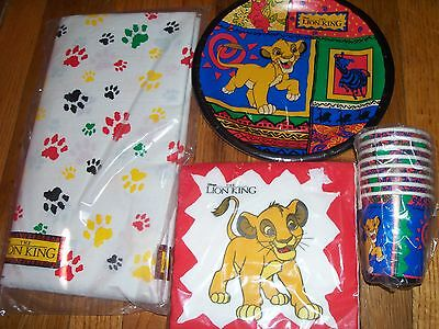 4pc Lot 1994 Beach Lion King Simba Birthday Party Goods Multi-color NOS