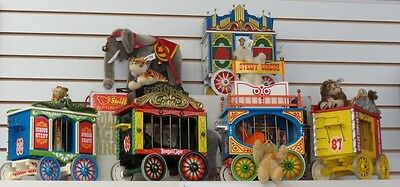 Steiff Golden Age Of The Circus Limited Edition Calliope 4 Wagons  Bears Animal