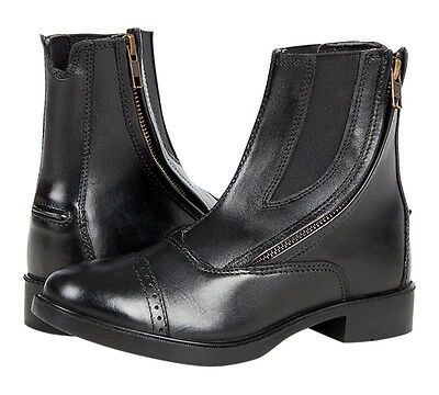 Daisy Clipper Children's Black Leather Side Zipper Paddock boots