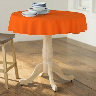 LA Linen Polyester Poplin Round Tablecloth, 51-Inches.  Made in USA