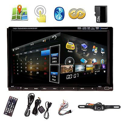 "HD 7"" In Dash Double 2 Din Car Stereo DVD Player GPS Navigation 3D Bluetooth TV"
