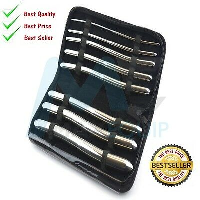 HEGAR DILATOR SET Uterine Urethral Diagnostic Surgical Sounds 8PCS + CASE CE New