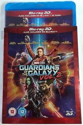 GUARDIANS OF THE GALAXY VOL. 2 New 3D and 2D BLU-RAY w/ SLIPCOVER Marvel MCU Two