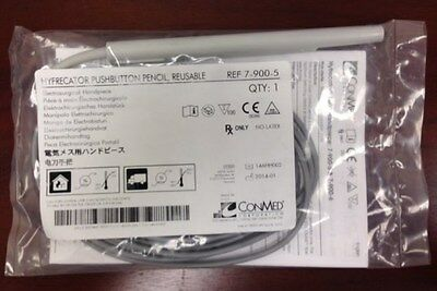 CONMED HYFRECATOR 2000 Pushbutton Pencil Handpiece #7-900-5 Reusable NEW/Sealed