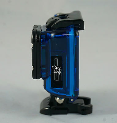 Blue Skeleton Protective Housing Case Gopro Hero 3 3+ 4 with Lens mount & screw