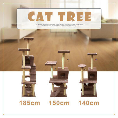 1.8M/1.5M/1.4M Cat Scratching Post Tree Gym House Condo Furniture Scratcher Pole