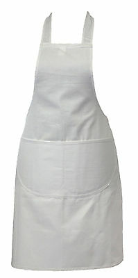White - Professional Quality Chef / Cooks / Butchers / BBQ Apron - 100% Cotton